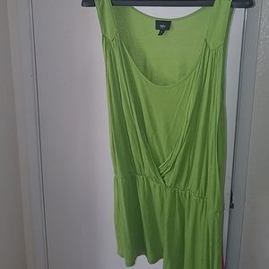 Mossino Grecian green flowy tank top XL